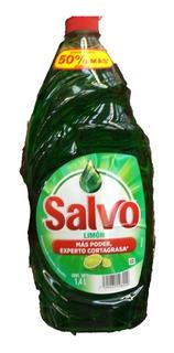 Detergente Jabon Liquido Para Trastes Salvo Limon 1.4 Litros