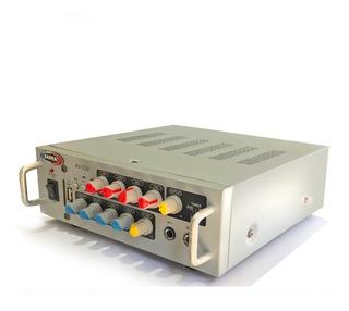 Consola Potenciada Av-020 Con Bluetooth+usb 2 X 25w
