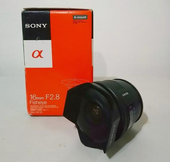 Lente Sony A-mount 16mm 2.8 Fisheye