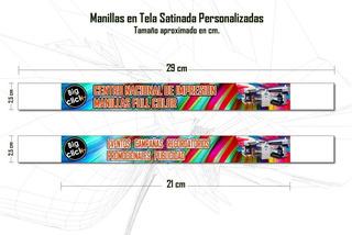 Manillas Satinadas Full Color 25m Eventos Recordatorio X 100