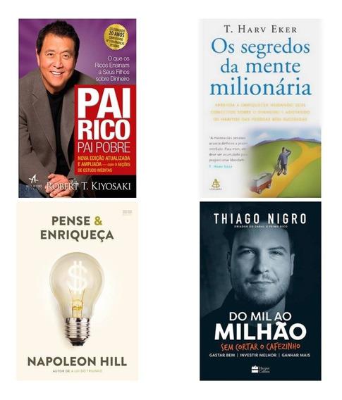 Livros - Pai Rico, Do Mil , Pense E Enriqueça E Segredo