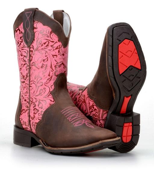 Bota Feminina Country Texana Montaria Capelli Boots Ref-5674