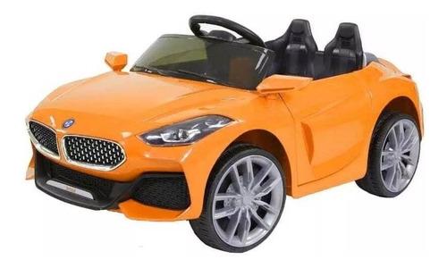 Juguete Auto A Batería Para Niños Coupe Cabriolet Naranja