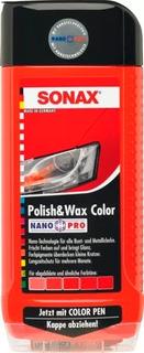Sonax Polish & Wax Color Rojo Limpia Abrillanta Lapiz Cera