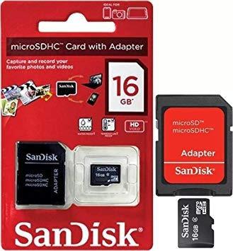 Cartão De Memoria Micro Sd Sandisk 100% Original 16 Gb 40mb