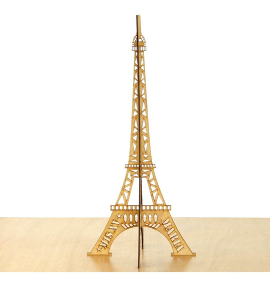 16 Torres Eiffel Modelo Dos Hojas París 40 Cm Madera Mdf