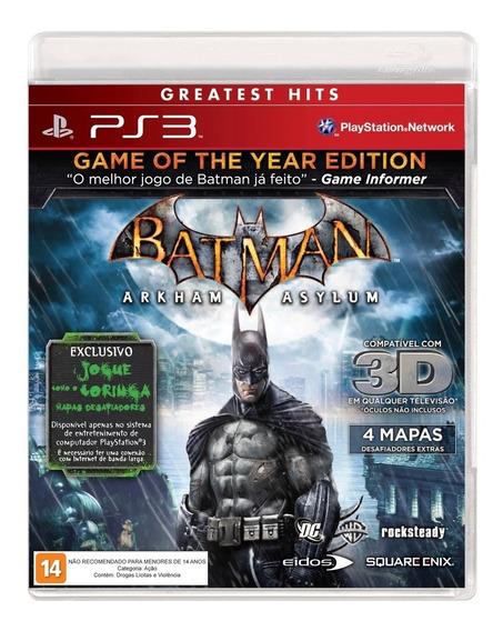 Batman: Arkham Asylum - Ps3 / Relacre / Original