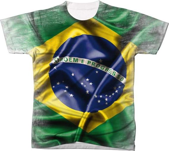 Camisa Camiseta Blusa Bandeira Do Brasil Copa 2018 Pátria