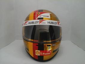Capacete Vettel Dourado Personalizamos Como Vc Quiser