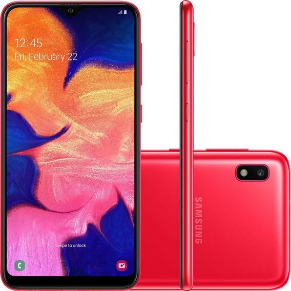 Celular Samsung Galaxy A10 32gb 6.2 Octa1.6ghz 2gb Vermelho