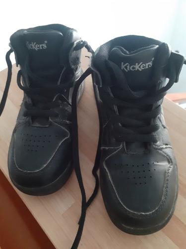 Zapatillas Botitas Kickers - Negras - Talle 27