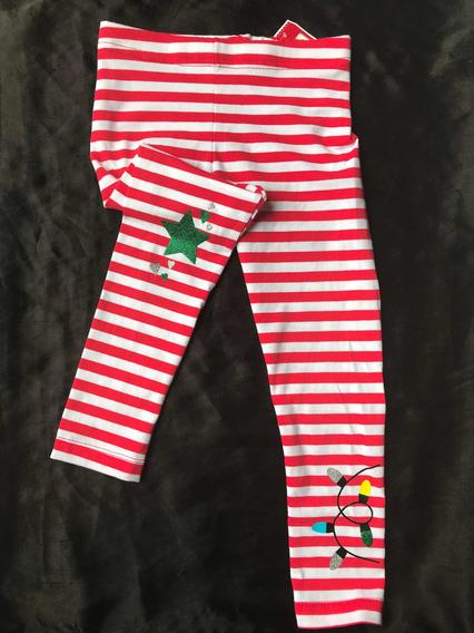 Leggings Navidad Diseño Bastón De Caramelo