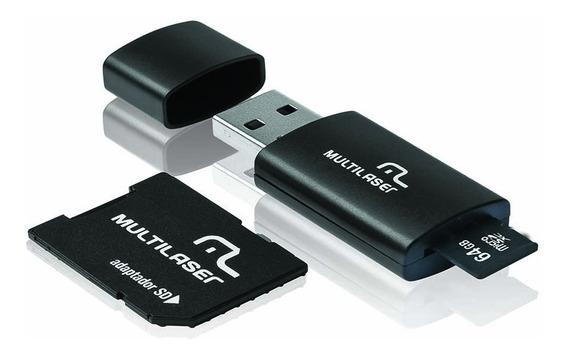 Cartão De Memória Micro Sd 64gb Multilaser Pendrive N Fiscal