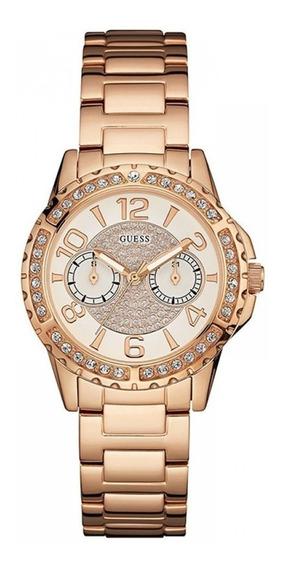 Relógio Rose Guess W0705l3 Feminino Original C/ Nota Fiscal