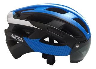 Capacete Argon Ciclismo Mtb Tt22 C/ Óculos Magnético S/ Led