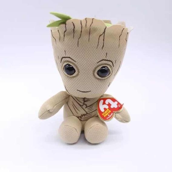 Pelúcia Baby Groot Guardiões Da Galáxia 15 Cm