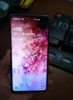 Samsung Galaxy S10 Plus Completo 128gb Com Garatia E Nf