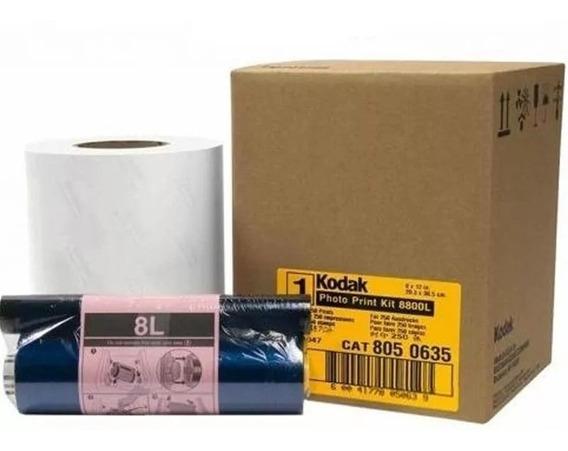 Kit Kodak Para Impressora 8800/8810, 250 Fotos 20x25/20x30