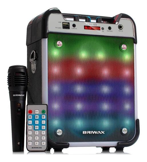 Caixa De Som Amplificada 25w Bluetooth Portátil Fm Karaokê