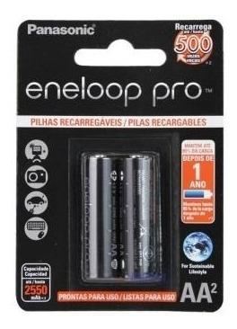 Bateria Aa 2550mah 1,2v Panasonic C/2 Eneloop Pro