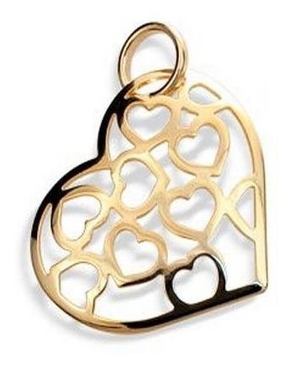 Pingente Rommanel Coração Com Corações Vazados 541163