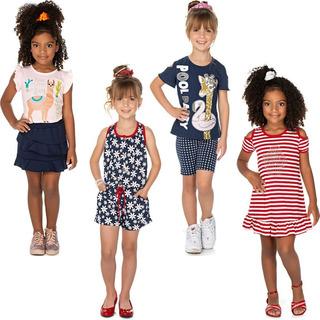 Roupa Infantil Menina Kit 2 Conjuntos 1 Macaquinho 1 Vestido