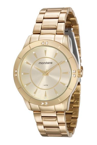 Relógio Mondaine Feminino Dourado Analógico 99112lpmvde1