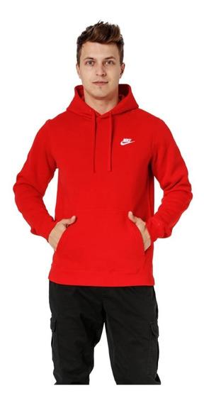 Moletom Nike Vermelho C/ Capus - 804346