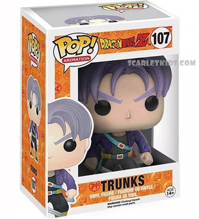 Funko Pop Dragon Ball Z Trunks 107 Original Pop Animation