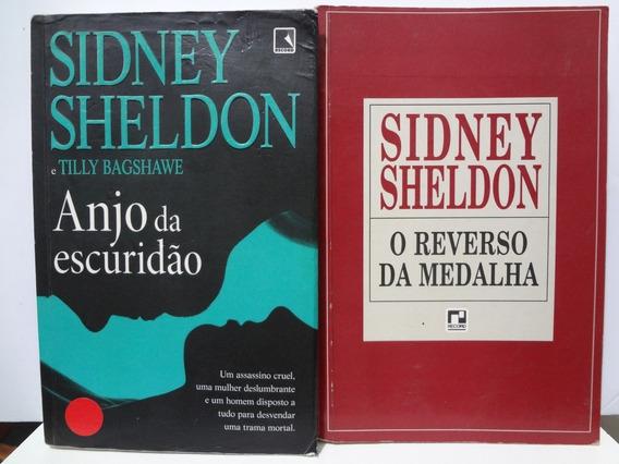 2 Livros Sidney Sheldon Anjo Da Escuridão E Reverso Da Meda
