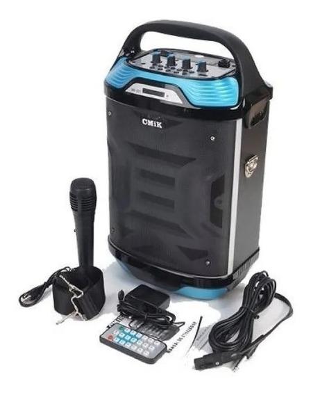 Caixa Amplificada Led Cmik Mk-b21 Bluetooth Microfone Usb Fm