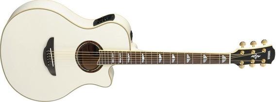 Guitarra Electroacustica Yamaha Apx-1000 Blanca 6 Cuotas