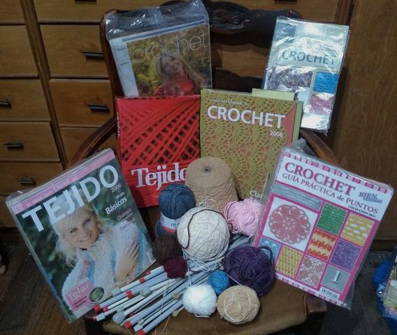 Tejido Agujas Tejer Lana Crochet Libros Lote Colección