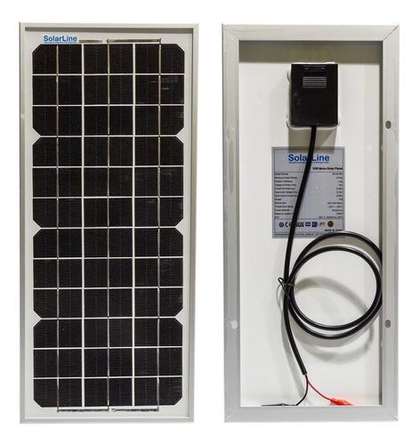 Imagen 1 de 1 de Energía Solar 10wp 10watts 10w  10 W P/ Cargar Baterías 12v