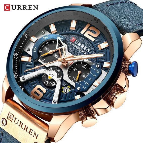 Relógio Esportivo Curren 8329, De Pulso Masculino Cronógrafo