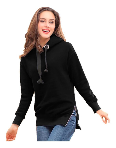 Buzos Y Hoodies Mujer Kanguro Capucha Modelo Importado A02