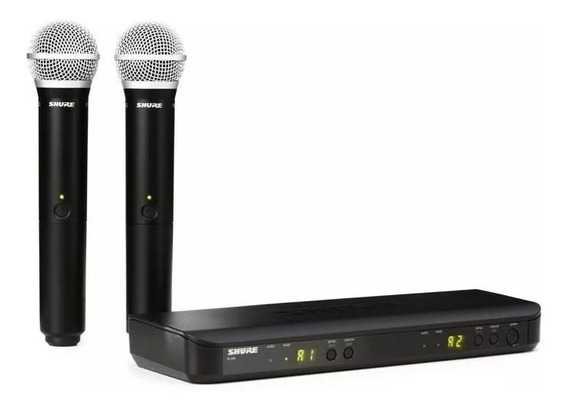 2 Microfones Shure Sem Fio Blx288 J10