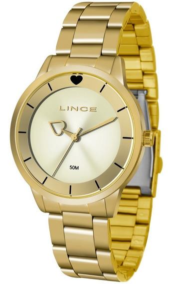 Relogio Lince Feminino Lrg4572l C1kx Dourado Analogico
