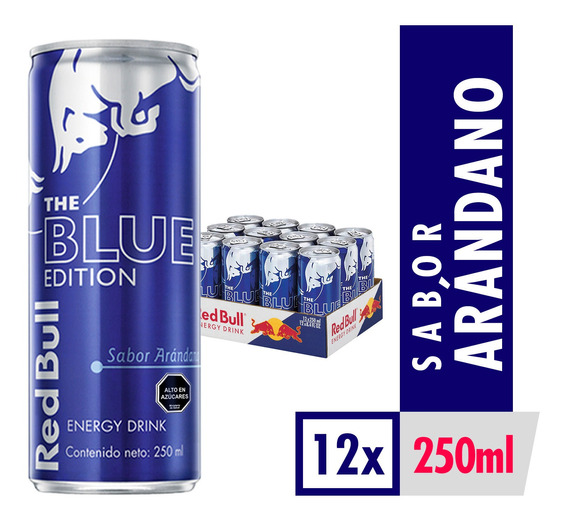 Bebida Energetica Red Bull Blue Edition 12 Latas De 250ml
