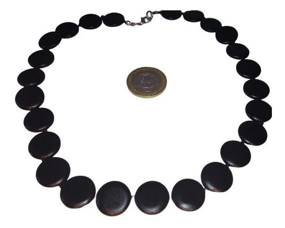 Collar No Pulido Shungita 30% Carbono Organico
