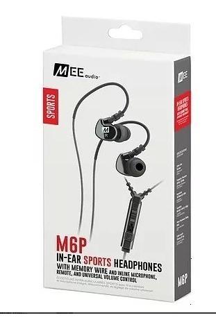 Fone Headphone In-ear Mee Audio M6p2 Retorno Preto E Branco