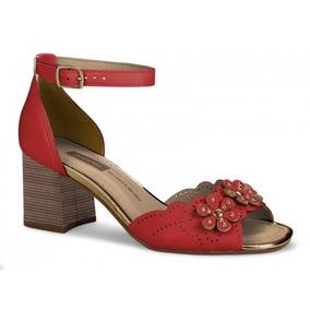 Sandália Vermelha Dakota Salto Grosso