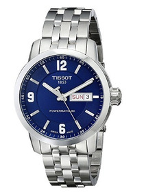 Relógio Tissot Powermatic 80 Azul/prata Aço Automático Suíço