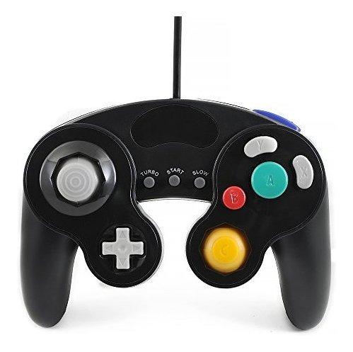 Qumox Negro Con Cable Clásico Mando Joypad Compatible Para N