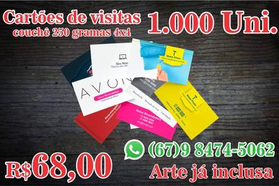 Cartão De Visitas 4x4 250 G Mil Unidades