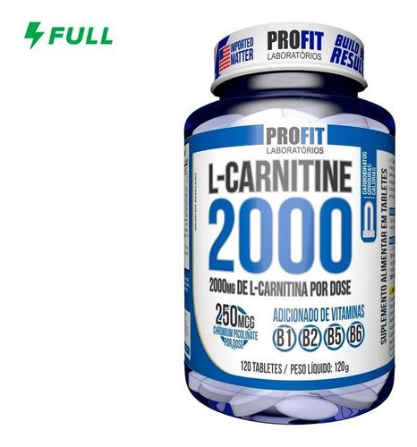 L-carnitina 2000 Queimador Gordura 120caps - Profit