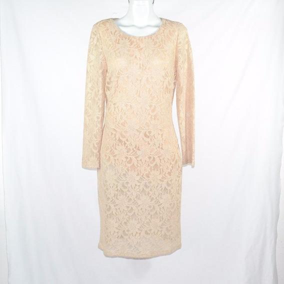Rimini Vestido Beige Encaje 10 Msrp $800