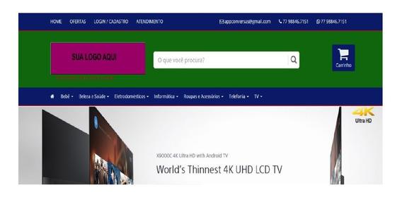 Criação De Site E Loja Virtual E-commerce Responsivo