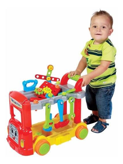 Brinquedo Mechanic Truck Com Capacete Com Caixa Maral 2022