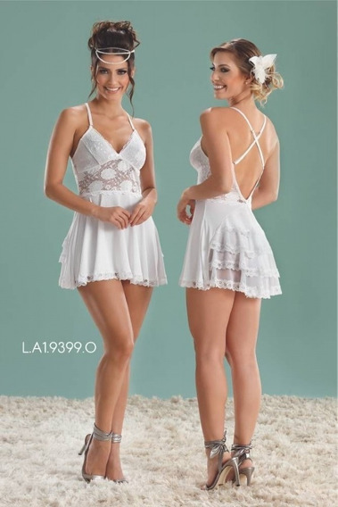 Camisola Branca De Renda Sexy Noivinha